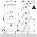 SCHWAB Urinal Element DUPLO XS Vorwandelement 134cm 254401