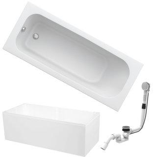 HOESCH Badewanne RIVIERA   Design Badewanne   Acryl   160x70cm   KOMPLETTPAKET mit Styroporträger und Ablaufgarnitur