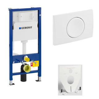 GEBERIT WC-Element Duofix Basic für Wand-WC 112cm 458103001 inkl. Betätigung DELTA11