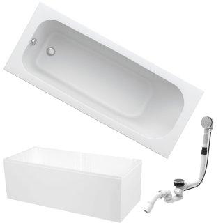 HOESCH Badewanne RIVIERA | Design Badewanne | Acryl | 170x70cm | KOMPLETTPAKET mit Styroporträger und Ablaufgarnitur