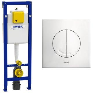 WISA WC Vorwandelement Spülkasten 118cm inkl. Betätigungsplatte ARGOS DF