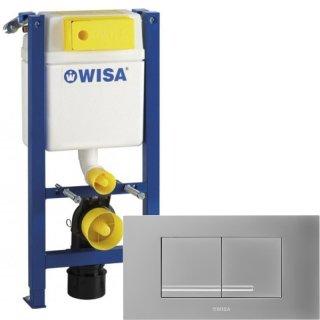 WISA WC SET Vorwandelement XT 83cm geringe Bauhöhe 38cm breit Betätigung KANTOS mattchrom