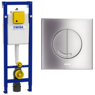 WISA WC Vorwandelement Spülkasten 118cm inkl. Betätigungsplatte ARGOS DF mattchrom