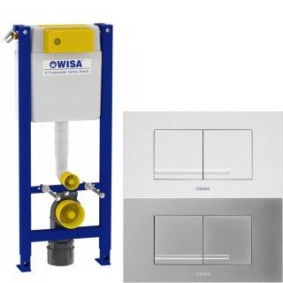 WISA WC-Vorwandelement XT 98cm geringe Bauhöhe - Breite: 38cm - Bedienung vorne/oben