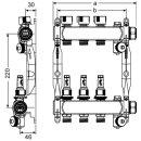 TECE Heizkreisverteiler Edelstahl TECEfloor HKV mit Durchflussanzeige
