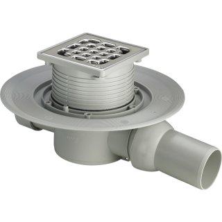 VIEGA Advantix Badablauf komplett DN 50, Einbauhöhe ab 70 mm, Ablauf waagerecht 557119