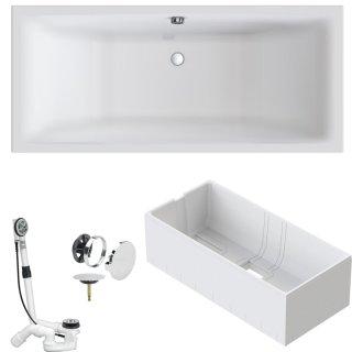 VITRA Badewanne M100 DUO Acryl Einbauwanne mit Mittelablauf 190x90cm
