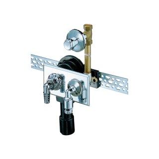 DALLMER UP-Waschgeräte-Siphon mit UP-Ventil, Rückflussverhinderer, chrom 130501