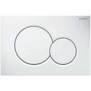GEBERIT Betätigungsplatte SIGMA01 für 2-Mengen-Spülung, weiß