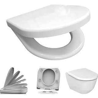 BADOSAN SUB WC-Sitz für Villeroy & Boch Subway D-Form inkl. Absenkautomatik SoftClose