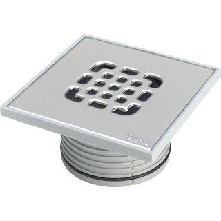 VIEGA Advantix Aufsatz, nicht verschraubt 150x150mm, Rahmen Kunststoff, Rost Edelstahl 555221