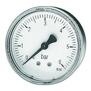 "Rohrfedermanometer, Abgang hinten MDA Ø 63 mm, 1/4"", 0-6 bar"