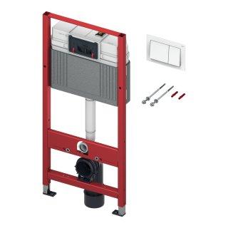 TECE BASE WC-Element 3in1-Set für Wand-WC BH 1120 mm, inkl. Betätigungsplatte weiß und Befestigungssatz