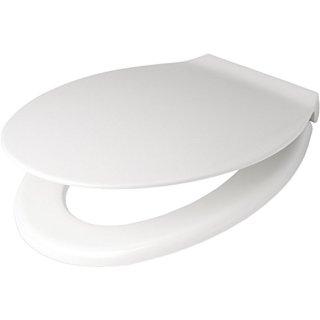 PAGETTE Exklusiv WC-Sitz mit Edelstahlscharnier weiß